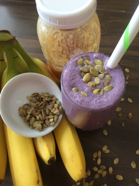 Blueberry Pepita Smoothie