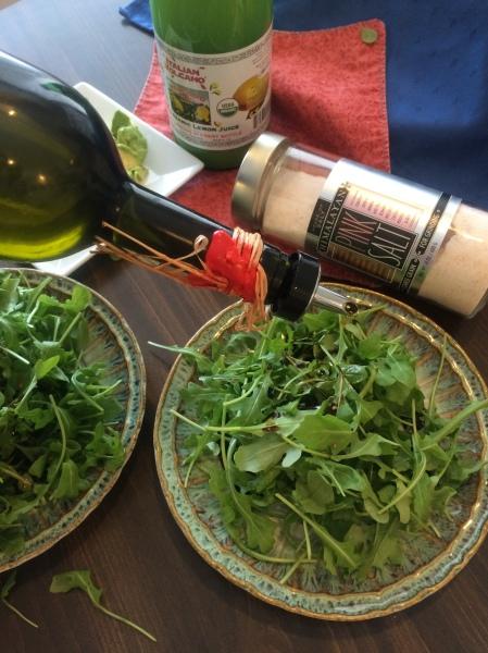 Arugula & Avocado Salad with Balsamic Citrus Drizzle~~The Crispy Cupboard